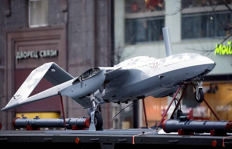 """在莫斯科游行排练中首次展示了无人机""""Corsair"""""""