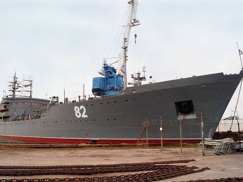 Russian grouping in the Mediterranean has been replenished by a floating workshop from the Baltic
