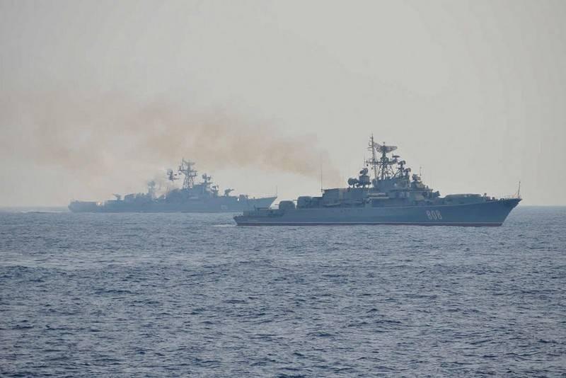 教义继续。 俄罗斯船只在地中海发射