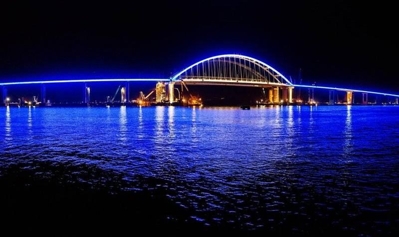 "Mosfilm is ""resting"". Night illumination was turned on on the Crimean Bridge"