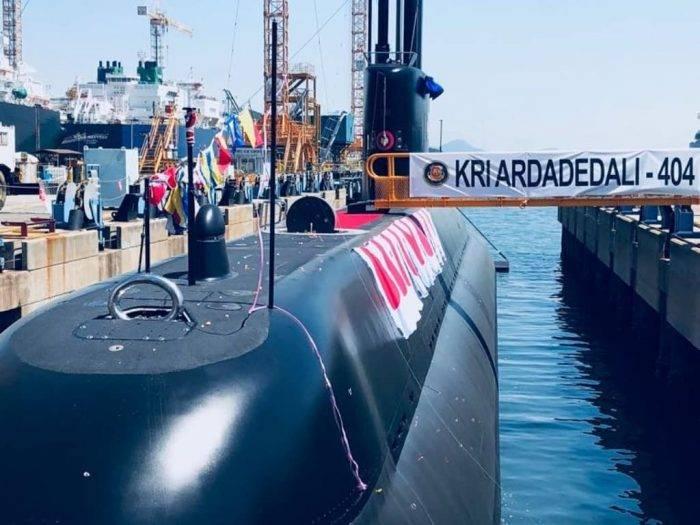 Indonesia recibió el segundo submarino del proyecto DSME1400.
