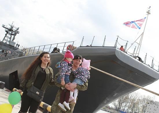 Корабль Балтфлота «Минск» вернулся издальнего морского похода