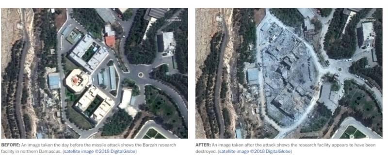 В США опубликовали спутниковые снимки с результатами ракетных ударов