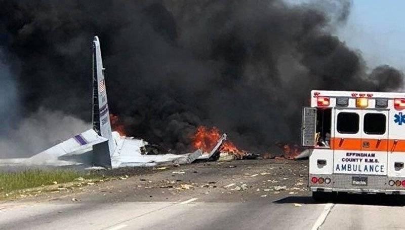 """没拉出来? C-130""""大力神""""国民警卫队在美国坠毁"""