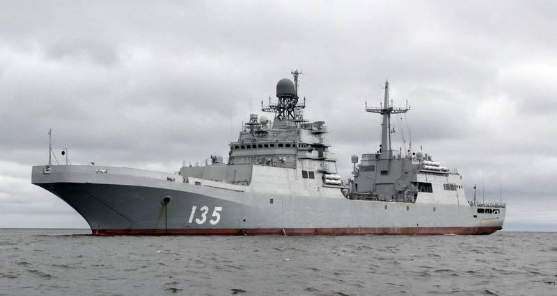 """Enfin terminé. Le grand bateau de débarquement """"Ivan Gren"""" a réussi le programme d'essais en mer"""