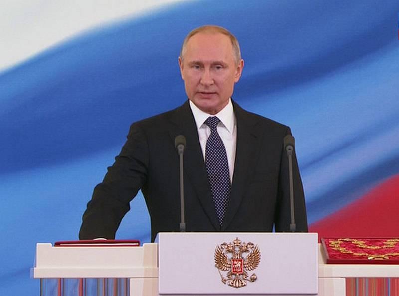 Zweite sechs Jahre. Wladimir Putin trat sein Amt als Präsident Russlands an