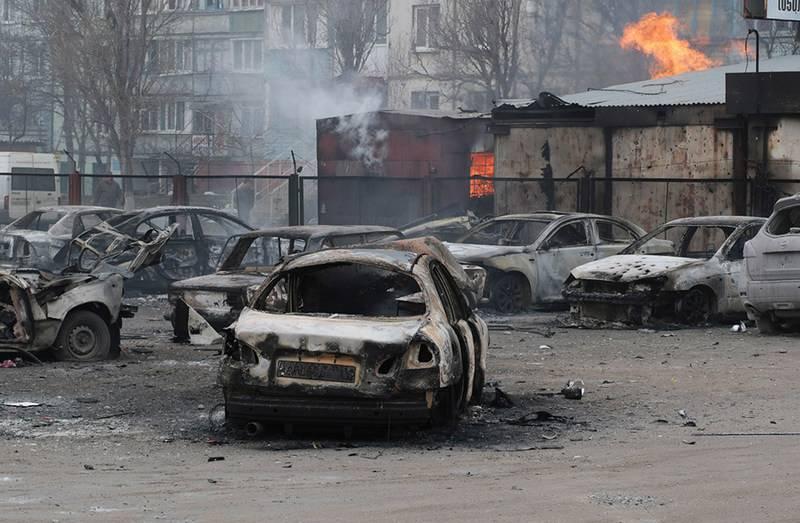 Fino a due divisioni missilistiche. Gritsak ha accusato la Russia di bombardare Mariupol nel 2015
