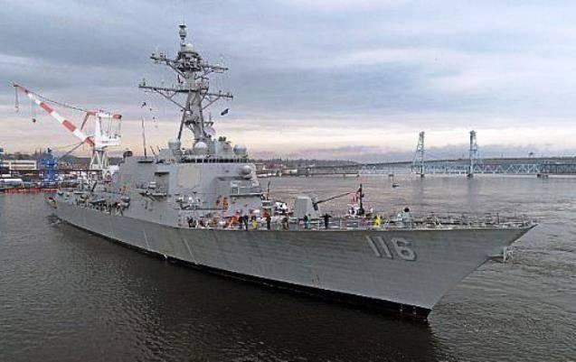 """驱逐舰""""托马斯·哈德纳""""将被转移到美国海军"""