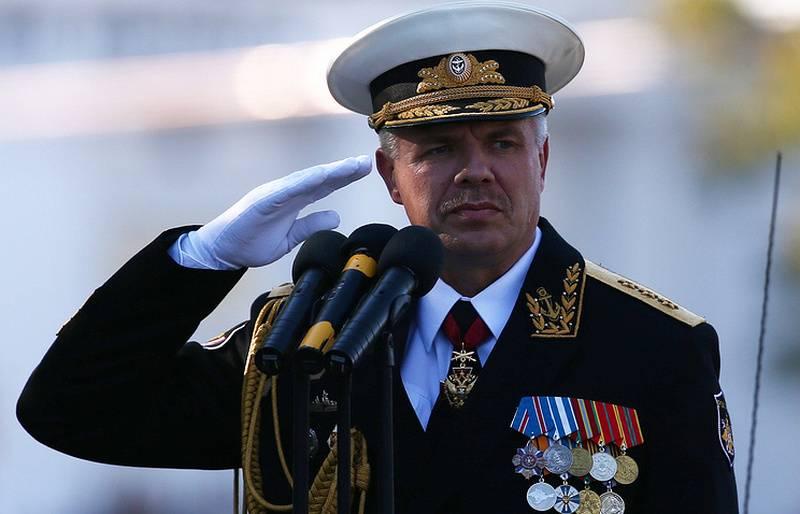 Vitko artıyor. Karadeniz Filosunda Komutan değişti