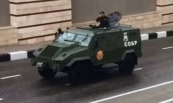 In Chechnya, showed the production of armored car Jordan