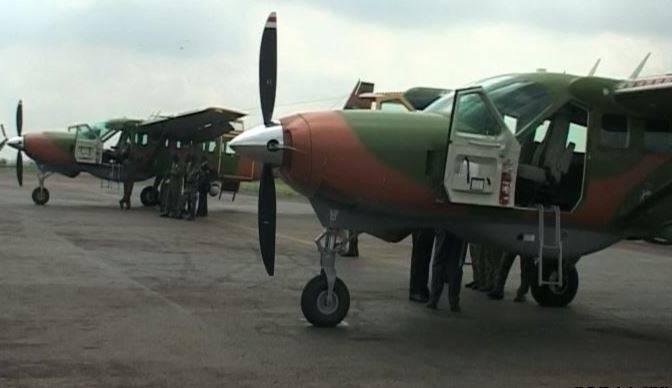 Amerikanische Hilfe: RC-208 Flugzeuge in Afrika