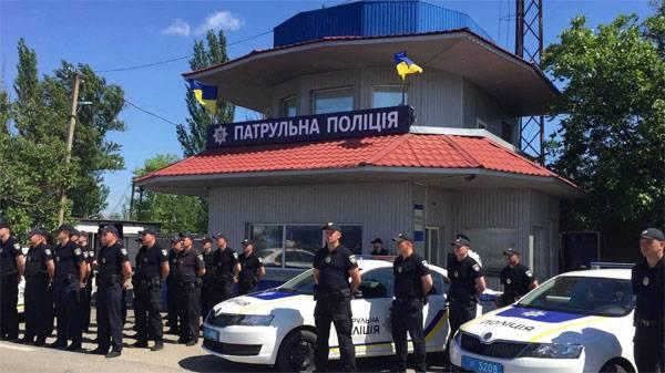 """Призрачный патруль. Украинская полиция начала """"патрулировать Крым"""""""