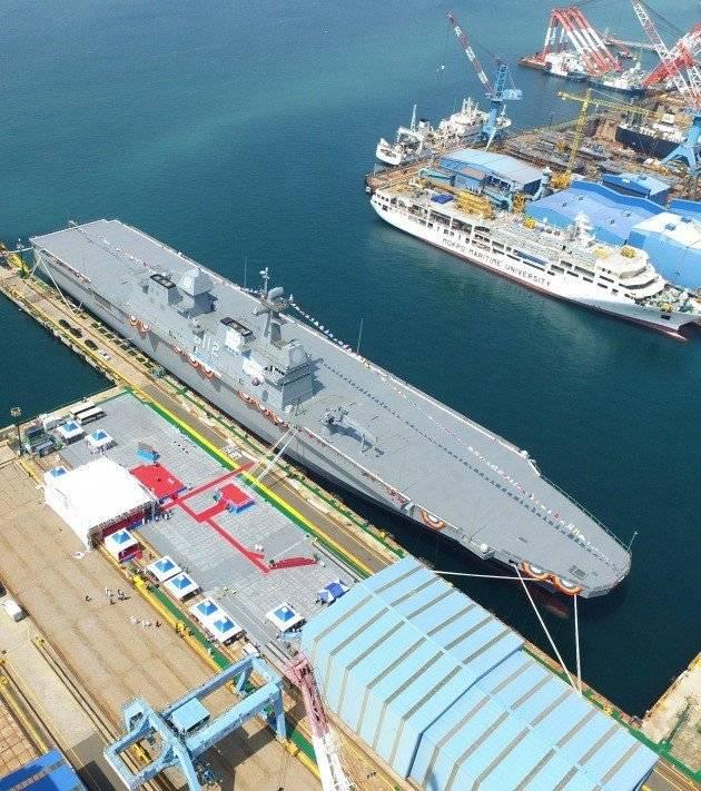 En Corée du Sud, le deuxième navire de débarquement lancé