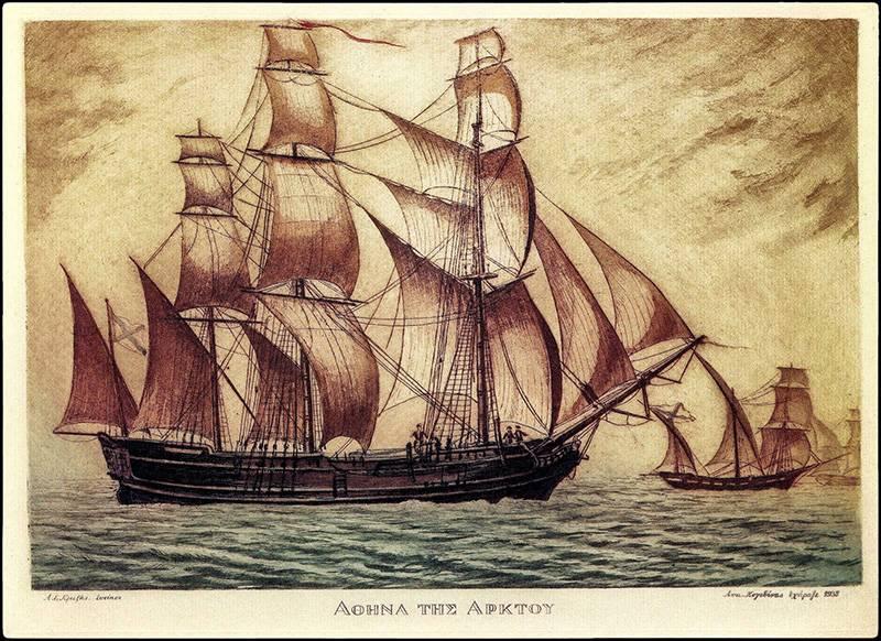 История Ламброса Кацониса, русского корсара. Первые операции в Средиземном море