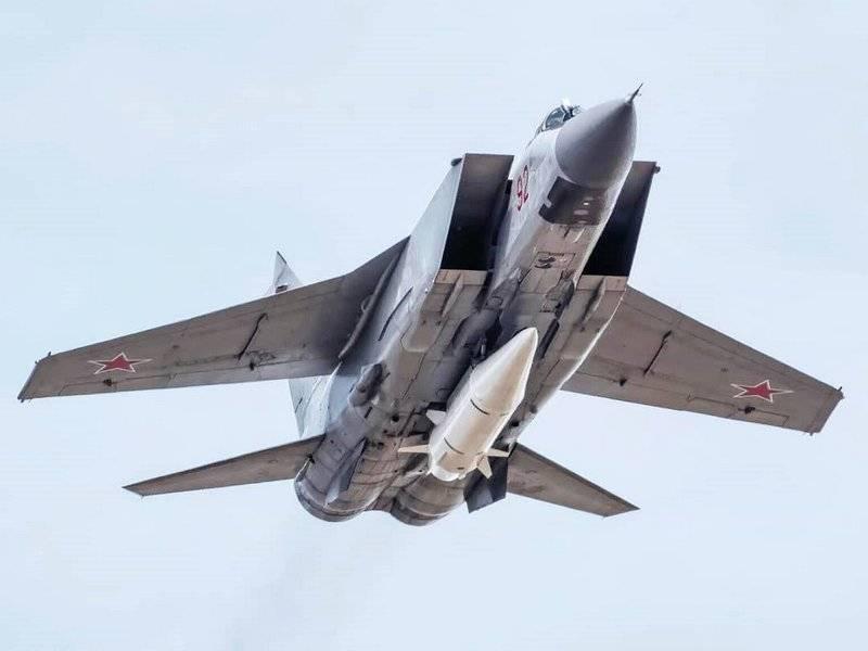 """МиГ-31К. Минобороны модернизировало носитель комплекса """"Кинжал"""""""
