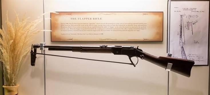 Экспериментальные винтовка и пулемёт Browning Flapper (США)