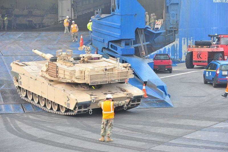 США начали переброску военной техники вВосточную Европу