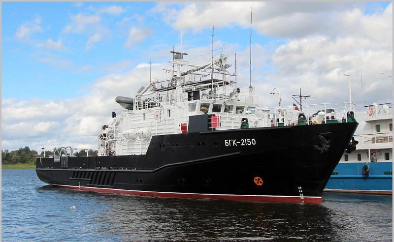 O grande barco hidrográfico do projeto 19920 foi colocado no estaleiro Oka