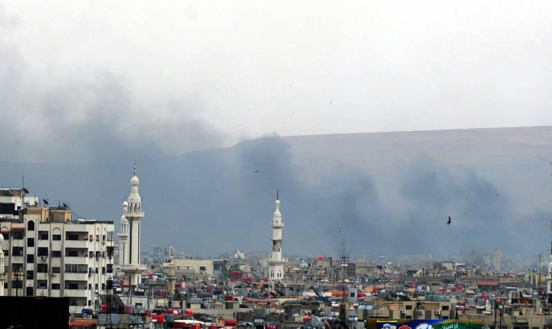 Ситуация в Сирии. Новые обстрелы Дамаска