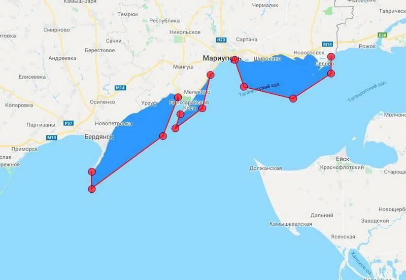Украина закрывает часть Азовского моря в районе Мариуполя