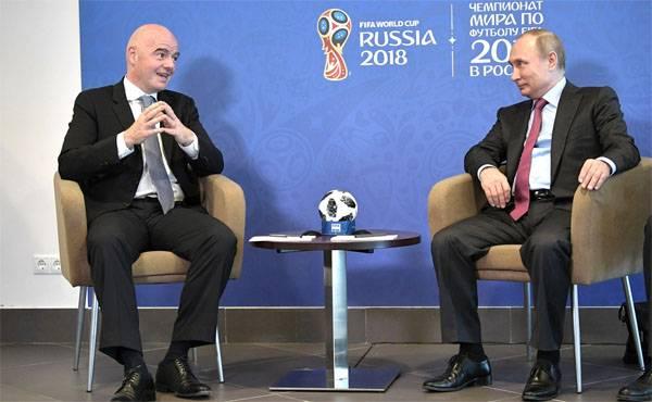 Путин поблагодарил FIFA за ЧМ‐2018 вне политики