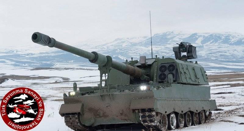 """Турция модернизировала самоходную установку Т-155 с учетом """"сирийского"""" опыта"""