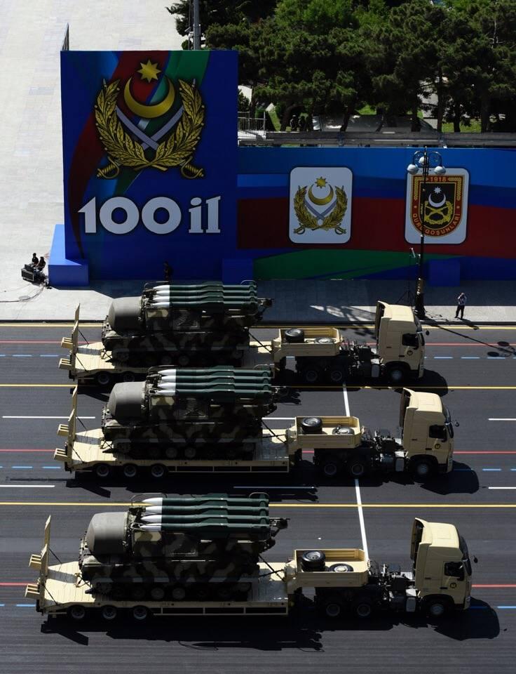 अज़रबैजान में सैन्य परेड। फोटो रिपोर्ट