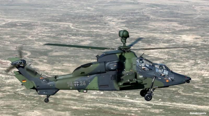 Вертолет Eurocopter Tiger ВВС Германии