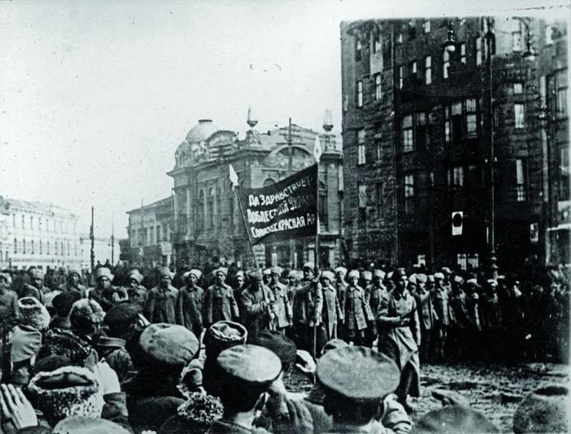 Красногвардейские отряды на улицах Харькова