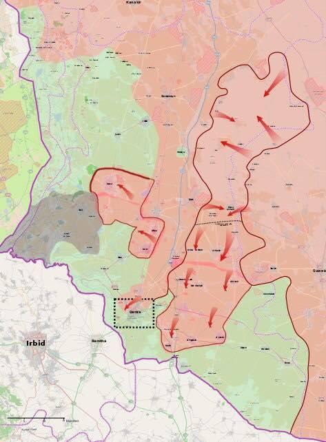 Наступление на юге Сирии. Фронтовая подготовка к политической встрече