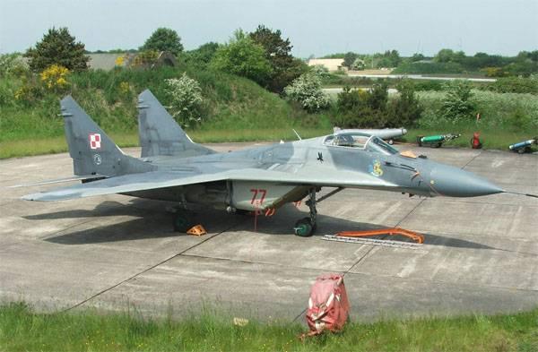 A Força Aérea Polonesa MiG-29 caiu perto das fronteiras da região de Kaliningrado