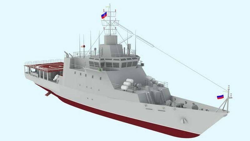 Training ship project 14400 laid on the stocks in the Nizhny Novgorod region