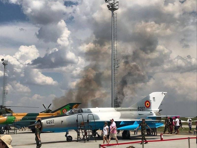 ВРумынии вовремя показательного полета разбился самолет МиГ-21