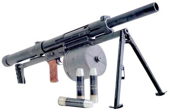 Отечественные многозарядные ручные гранатомёты