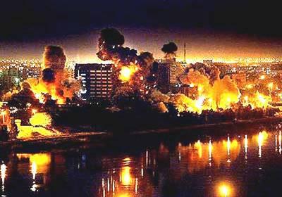 Бомбежка Багдада в первые дни войны