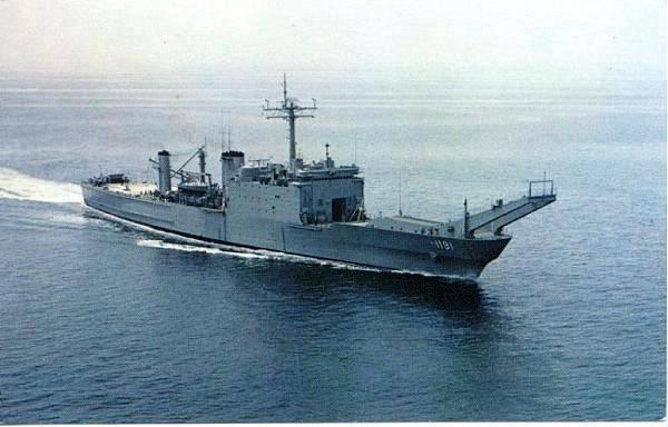 Гибель американского корабля засняли на видео
