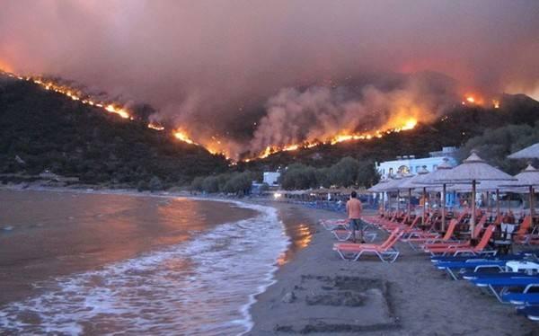 Греческая милиция задержала подозреваемого вподжоге леса