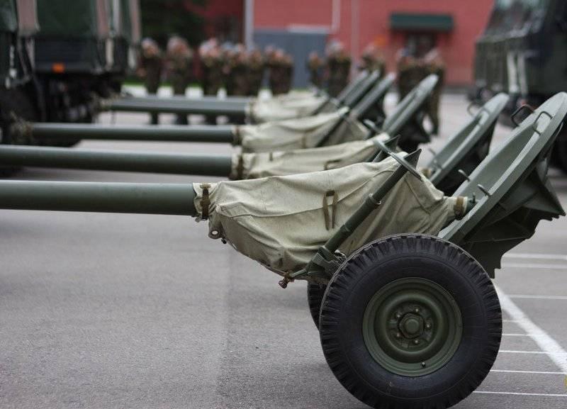 """Esercito bielorusso riempito con malta da 120 mm 2B23 """"Nona-M1"""""""