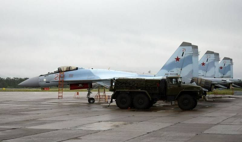 Su-35 VKS RF posted on Iturup. Japan is protesting