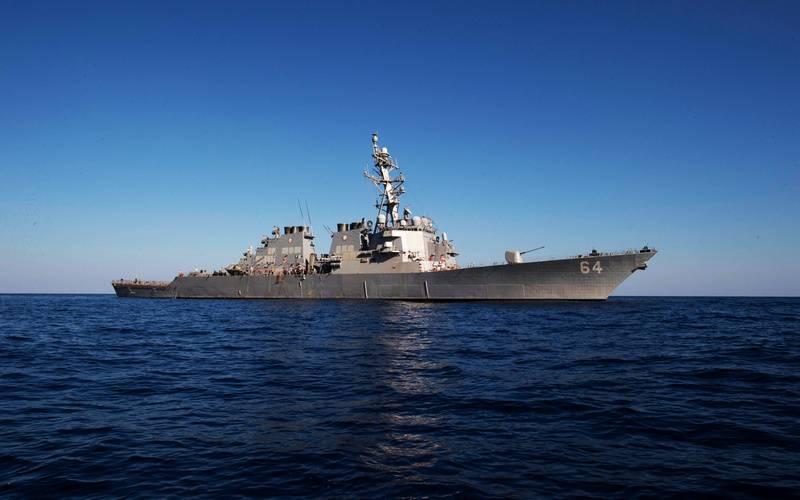 USS Carney DDG-64 미국 파괴자는 흑해에 입장한다.