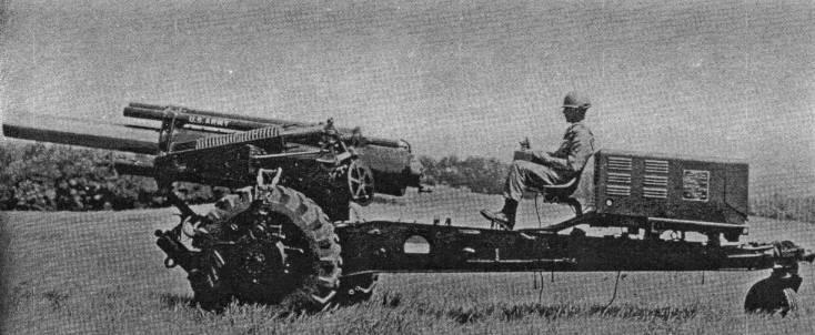 Sul campo di battaglia senza un trattore. XM123 pistola semovente (US)