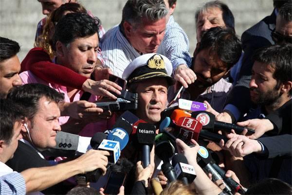 """МО Аргентины: Получен важный сигнал при поиске пропавшей ДЭПЛ """"Сан-Хуан"""""""