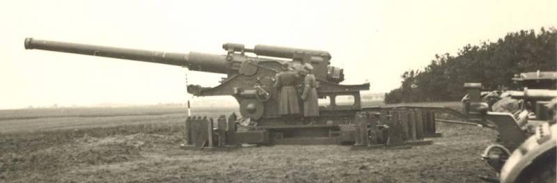 Артиллерия. Крупный калибр. БР-17, пушка 210-мм образца 1939 года