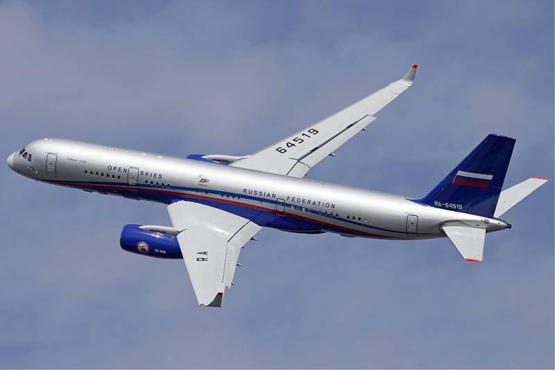 США заблокировали допуск российского самолёта в рамках «открытого неба»