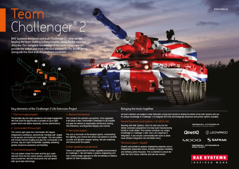 «Чёрная ночь»: вариант модернизации танка Challenger Mk 2 от BAE Systems