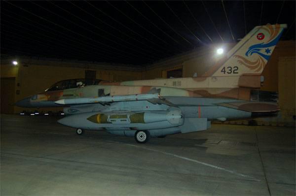 С какого расстояния F-16 ВВС Израиля наносили удар по целям в САР