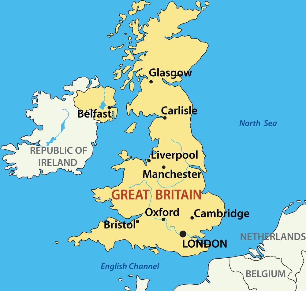Cartina Regno Unito E Irlanda Del Nord.La Brexit Incontrera Londra E Belfast Lanciare Teresa
