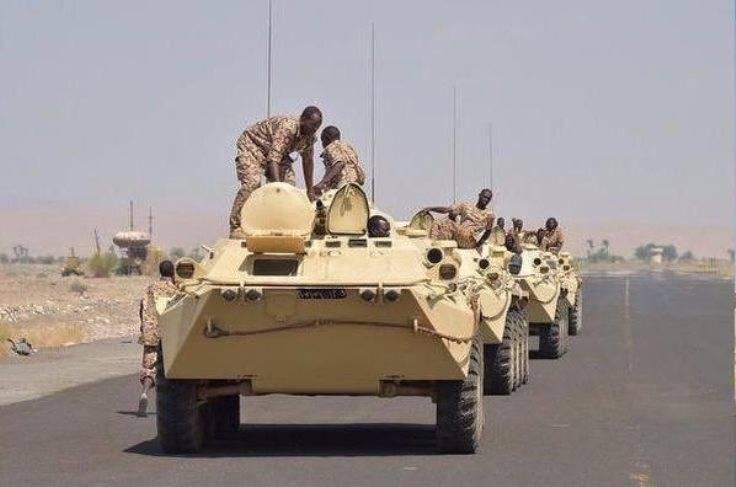 イエメンで観測されたベラルーシ語BTR-70MB1