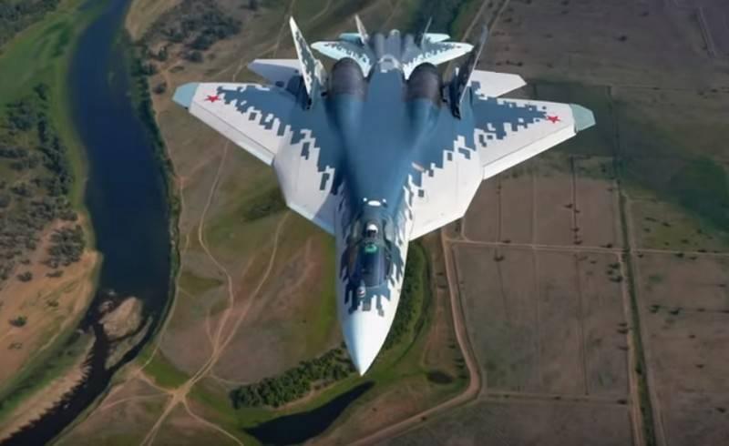 Новые маневры пары Су-57 над Астраханской областью