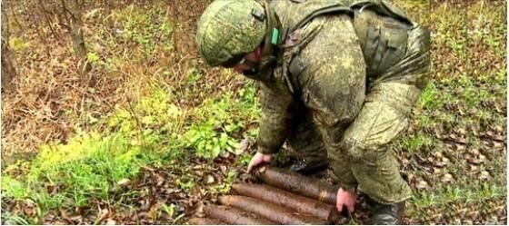 レニングラード地域では、検索エンジンは地雷原を発見しました